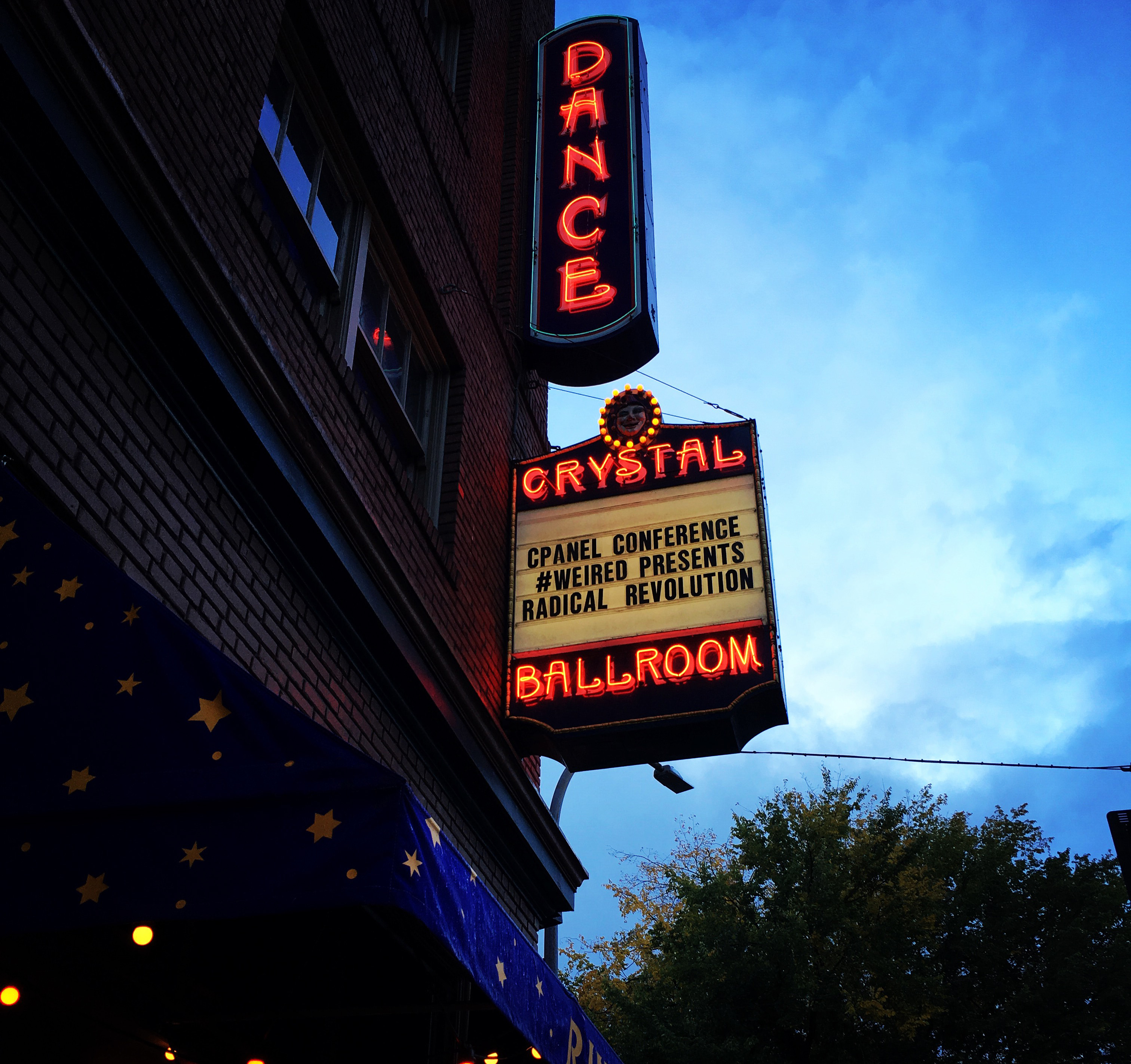 Portland's Crystal Ballroom: Host of the Rad 80s Party during cPanel Conference